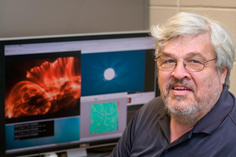 The American Physical Society has honored William Matthaeus, University of Delaware Unidel Professor of Physics and Astronomy, for pioneering research in the nature of turbulence in space and astrophysical plasma.